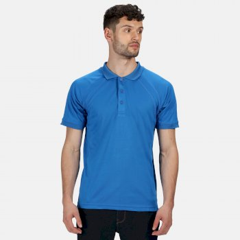 Men's Coolweave Wicking Polo Shirt Oxford Blue