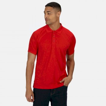 Men's Coolweave Wicking Polo Shirt Classic Red