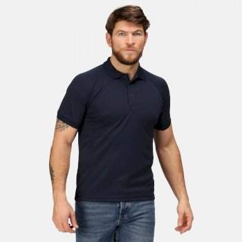 Men's Coolweave Wicking Polo Shirt Navy