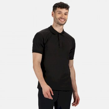 Men's Coolweave Wicking Polo Shirt Black