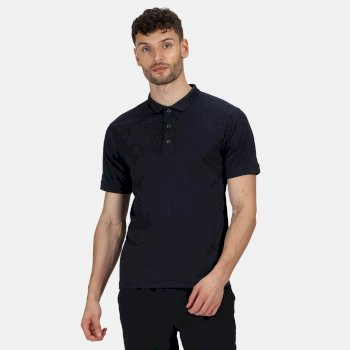 Men's Stud Coolweave Polo Shirt Navy