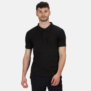 Men's Stud Coolweave Polo Shirt Black
