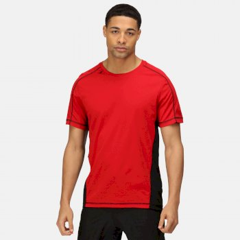 Men's Beijing Lightweight Cool and Dry T-Shirt Classic Red Black