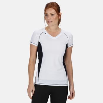 Women's Beijing Lightweight Cool and Dry Sports T-Shirt White/Navy