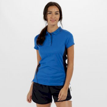 Women's Salt Lake Light and Dry Sports Polo Shirt Oxford Blue