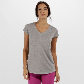 Women's Ashrama Quick Dry Sports T-Shirt Rock Grey