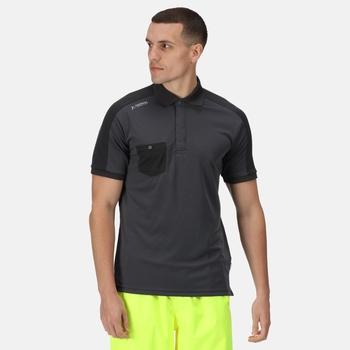 Men's Offensive Moisture Wicking Polo Shirt Seal Grey