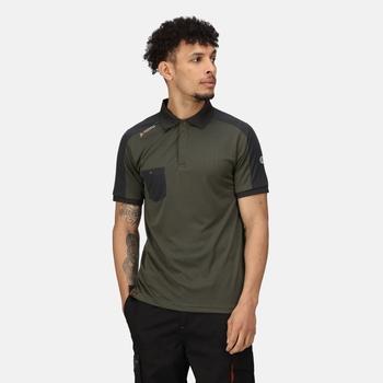 Men's Offensive Moisture Wicking Polo Shirt Dark Khaki