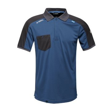Men's Offensive Moisture Wicking Polo Shirt Blue Wing