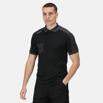 Men's Offensive Moisture Wicking Polo Shirt Black