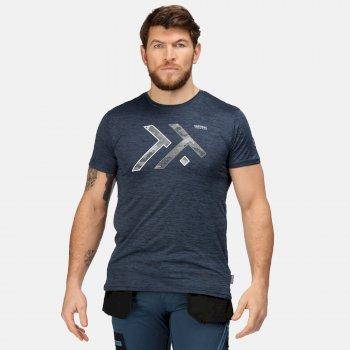 Men's Dread T-Shirt Blue Wing Marl