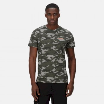 Men's Dense T-Shirt Dark Khaki Marl