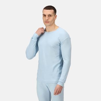 Men's Long Sleeve Thermal Vest Blue