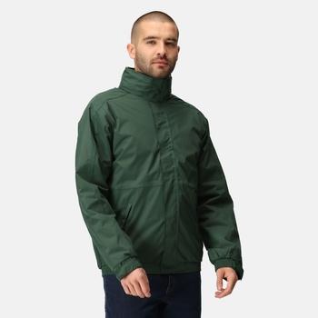 Men's Dover Fleece Lined Waterproof Insulated Bomber Jacket Dark Green Dark Grey
