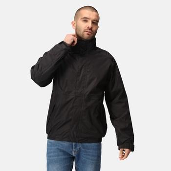 Men's Dover Fleece Lined Waterproof Insulated Bomber Jacket Black