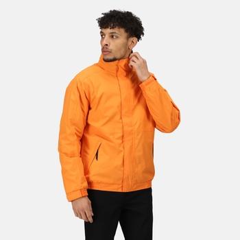 Men's Dover Fleece Lined Waterproof Insulated Bomber Jacket Sun Orange Seal Grey