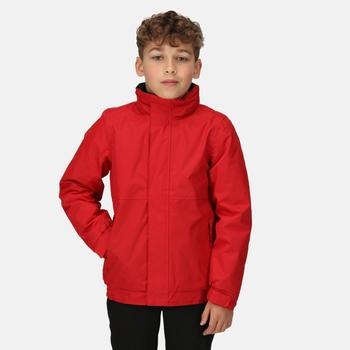Kids' Dover Fleece Lined Waterproof Insulated Jacket Classic Red Navy
