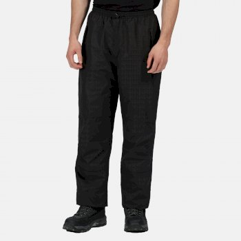 Men's Linton Waterproof Breathable Lined Overtrousers Black