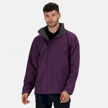 Men's Ardmore Waterproof Shell Jacket Majestic Purple Seal Grey