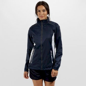 Women's Moscow Waterproof Shell Jacket Navy/White